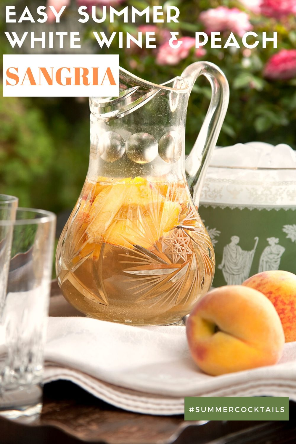 easy summer peach sangria