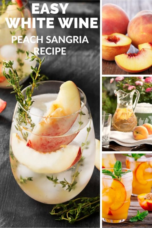 white wine peach sangria