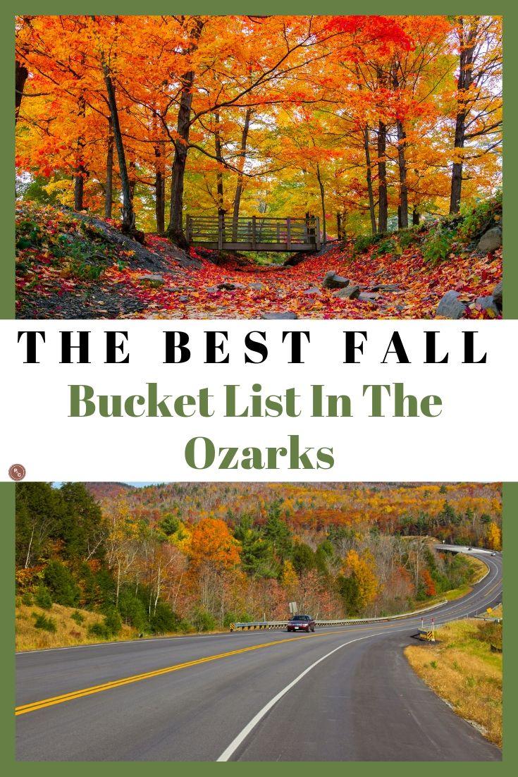 fall bucket list in the ozarks
