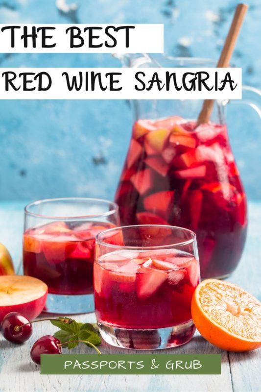Best Red wine sangria