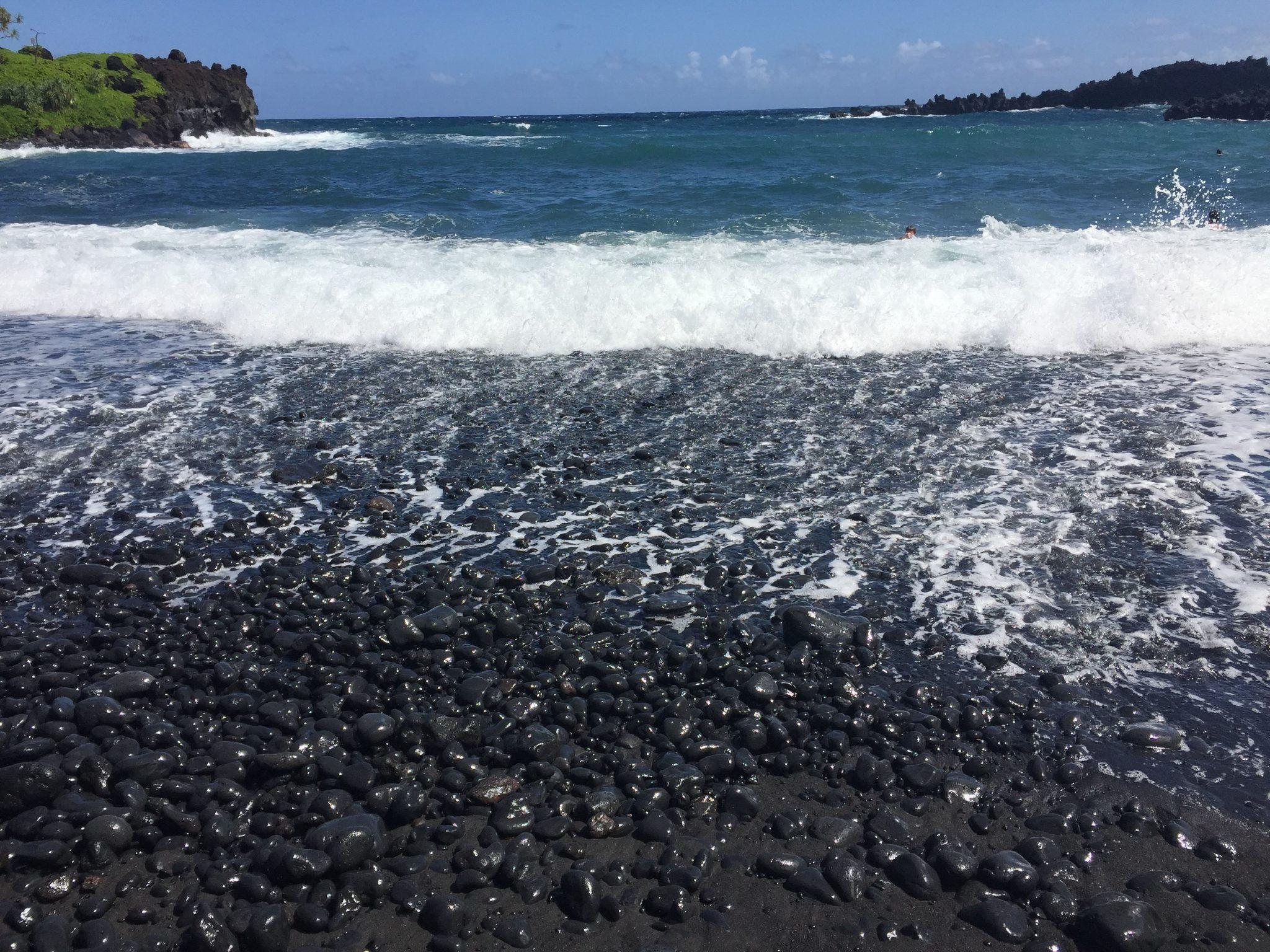 Road to Hana Stops | Black Sand Beach