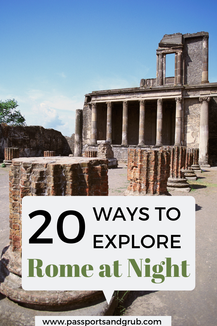 20 things to do in Rome at Night