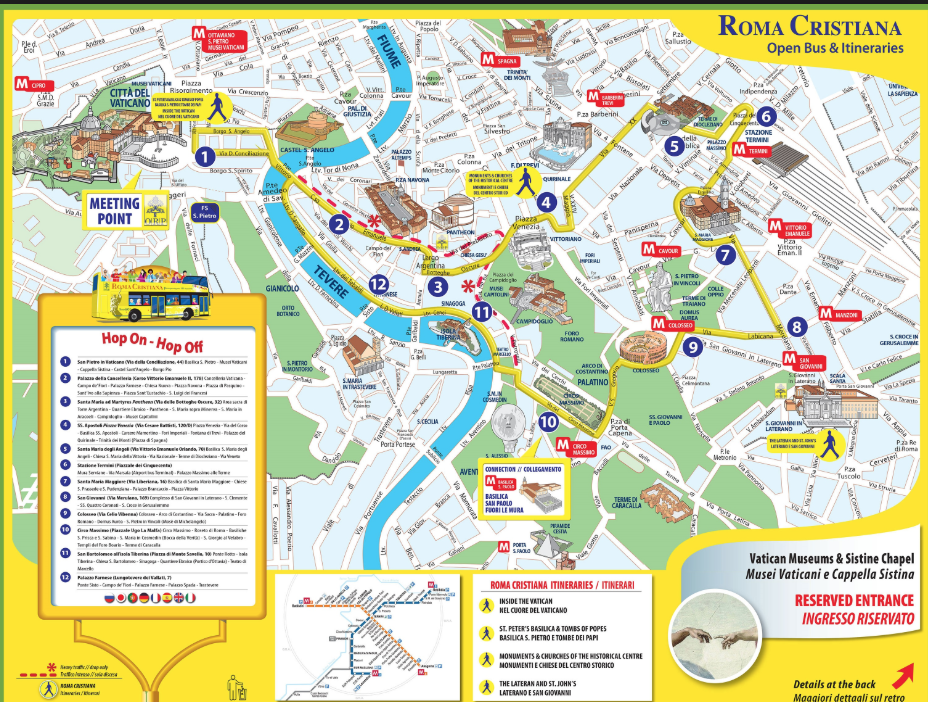 Map of Rome Historic Center