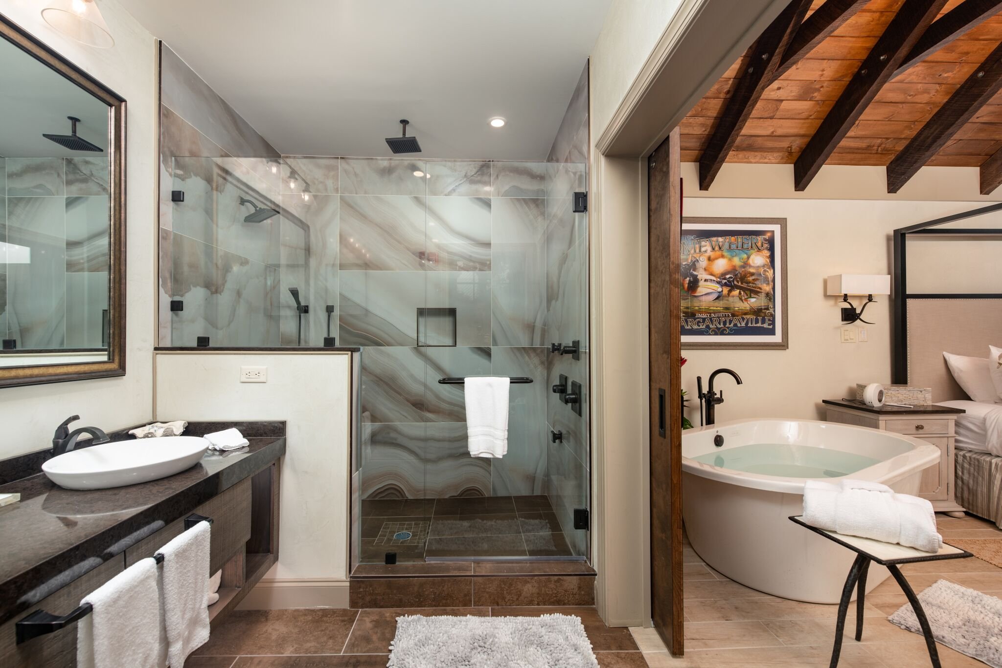 Christmas in the Smoky Mountains | Bathroom at Margaritaville Gatlinburg