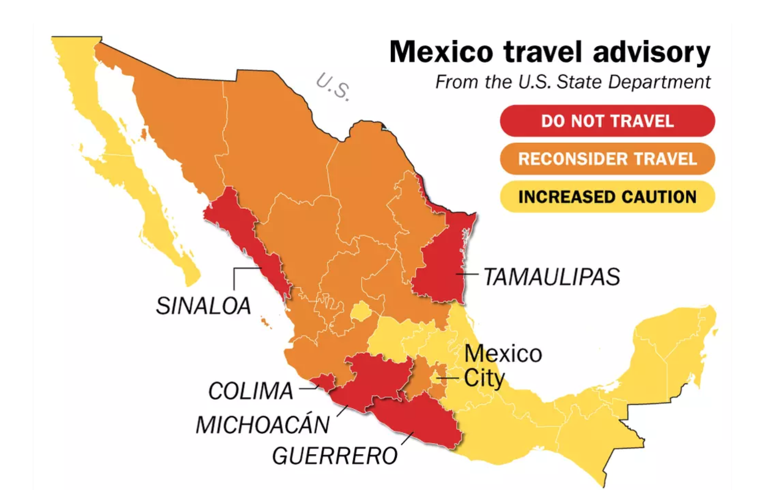 Mexico Travel Warning 2019