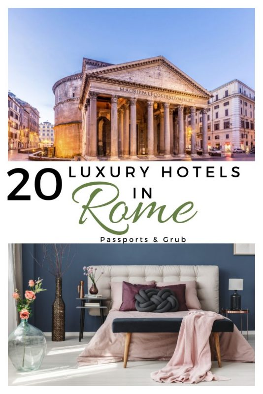 20 luxury hotels in Rome