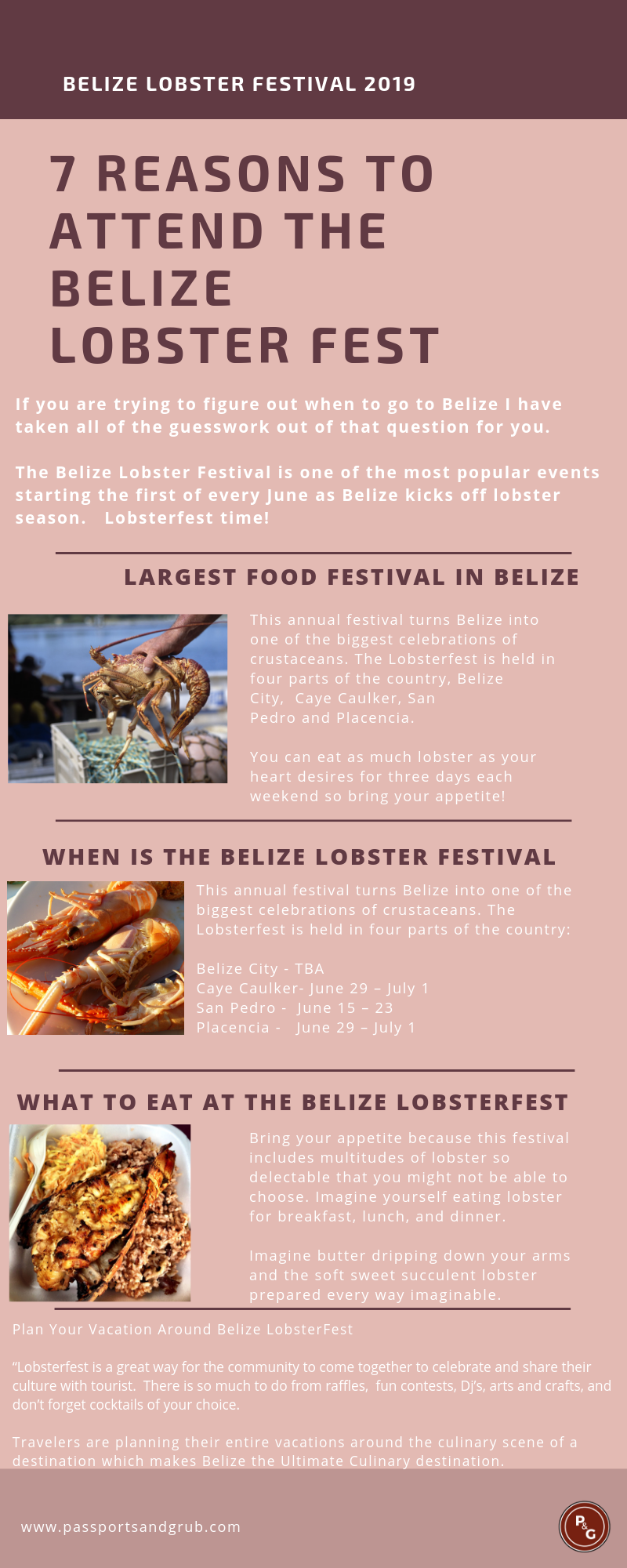 Belize lobsterfest