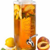 KooK Tall Square Glass Yorkshire Mason Jar Drink Dispenser