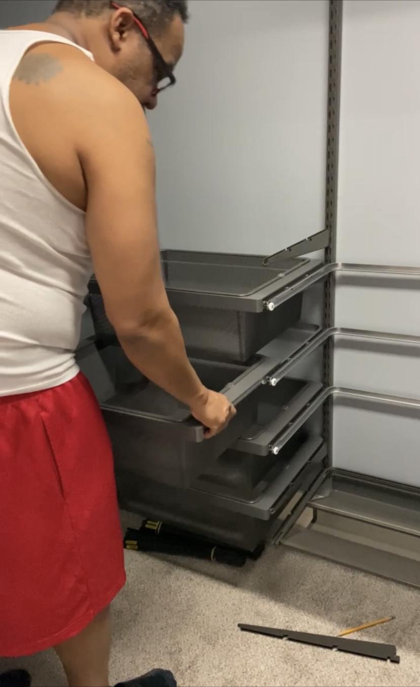 Elfa Gliding Shelves